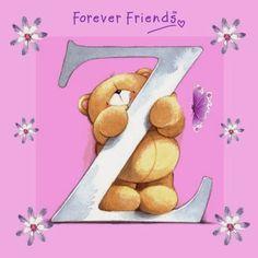 Bello Alfabeto de For Ever Friends. For Ever Friends Alphabet.