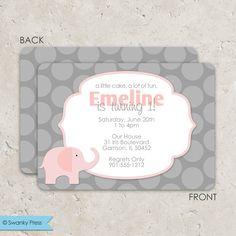 Convite festa um ano tema elefante