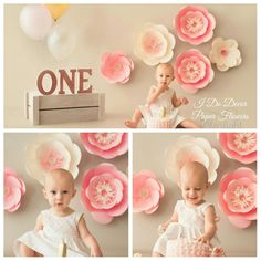 Cake smash with paper flowers. Paper flowers in Durban.