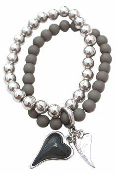Beaded bracelet with hearts £16.50