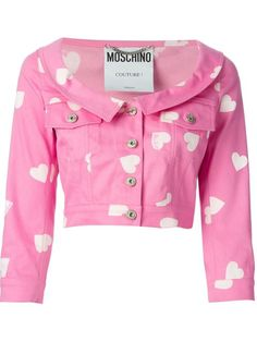 Shop Moschino heart print denim jacket in Julian Fashion from the world's best independent boutiques at farfetch.com. Over 1500 brands from 300 boutiques in one website.