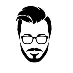 Vector Face Logo Design - CrazyTips Education Logo Design, S Logo Design, Hacker Logo, Beard Logo, Black And White Stickers, Systems Art, Hipster Drawings, Beard Art, Logo Face