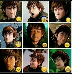 The many expressions of Hiccup Horrendous Haddock III
