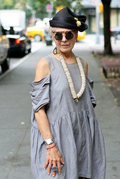 Debra Rapoport  ADVANCED STYLE: August 2010-  love the cut outs!!
