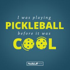 I was playing #Pickleball before it was cool