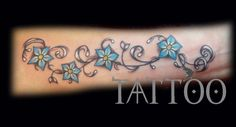 flowers forget me not tattoo