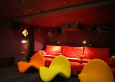 Great seating for home cinema.