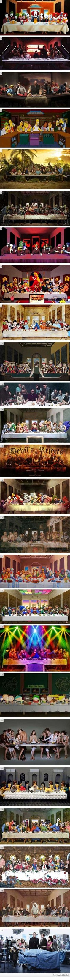 """La Cène "" or ""The Last Supper"" by Léonard de Vinci (parody)"