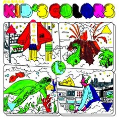 7-year old wins record cover coloring contest.