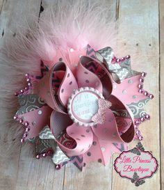 If it Sparkles I Want it Hair Bow by LilPrincessBowtique8 on Etsy, $12.00