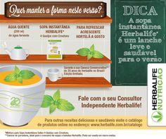 Para manter o foco mesmo no período de festas, a Sopa Instantânea é uma opção leve e saudável para lanches entre as refeições!   #Herbalife #Receita  Veja mais receitas e muito mais em: http://hrbl.me/catalogohbl