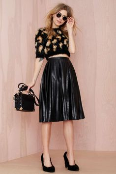 Nasty Gal Anarchy Party Vegan Leather Skirt   Shop What's New at Nasty Gal