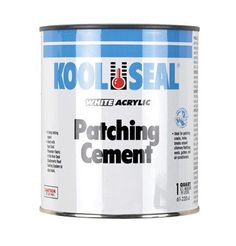 Kool Seal 61-220-4 Acrylic Patching Cement, 1 Quart Can, White, 2015 Amazon Top Rated Contact Cements #BISS