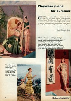 Fun-in-the-sun fashions: Summer playwear (1956)