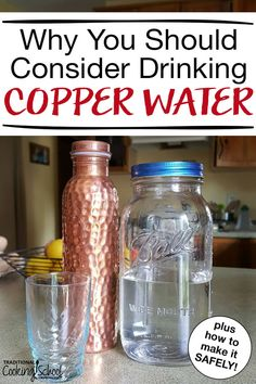 The benefits of copper water date back to ancient cultures, especially Ayurvedic medicine in India. Read more to find out if this is just a health fad. or if there's something to it, plus how to make and drink copper water safely at home! Calendula Benefits, Lemon Benefits, Matcha Benefits, Coconut Health Benefits, Rum, Safe Cosmetics, Tomato Nutrition, Healthy Oils, Wellness