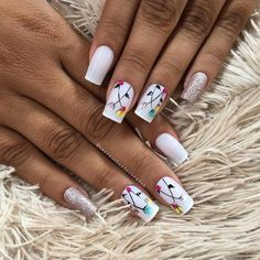Encontre este Pin e muitos outros na pasta Nail Art Designs de Nail Designs. Gorgeous Nails, Love Nails, Fun Nails, Pretty Nails, Creative Nail Designs, Creative Nails, Nail Art Designs, Nail Time, Rose Gold Nails