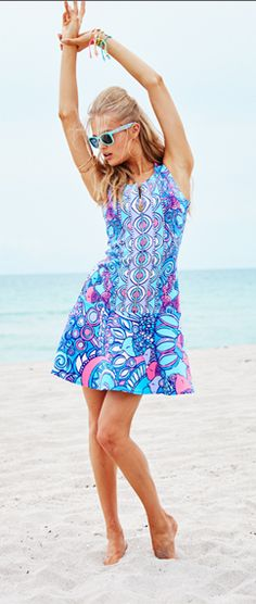 edeb22820284 Lilly Pulitzer Melia Dress in Multi Sea Jewels Engineered Resort Dresses
