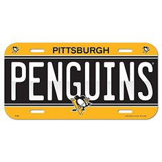 NHL Pittsburgh Penguins 85241414 License Plate #Pittsburgh #Penguins #License #Plate