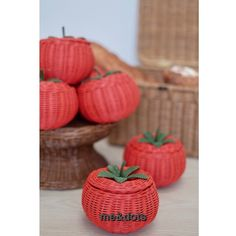 rattan tomato Rattan Basket, Picnic, Paper Crafts, Furniture, Design, Home Decor, Hampers, Tissue Paper Crafts, Room Decor