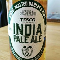 Average IPA. Lacks any hop notes. - Drinking a India Pale Ale by Tesco Stores Ltd