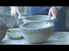 sphere casting2 - cement bubbling fountain