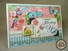 """Annette's Creative Journey: Botanical Tea """"Thinking of You"""" Card"""