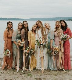29 Gorgeous Wedding Colors for 2019 with Bridesmaid Dresses Yo. - 29 Gorgeous Wedding Colors for 2019 with Bridesmaid Dresses You gonna love these 29 bridesmaid dresses ❤️ perfect for any wedding theme. Source by - Wedding Bridesmaid Dresses, Wedding Attire, Colorful Bridesmaid Dresses, Maxi Dresses, Bridesmaid Color, Bridal Party Dresses, Hippy Wedding Dresses, Wedding Dresses For Bridesmaids, Different Colour Bridesmaid Dresses