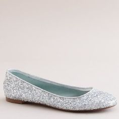 97e6028af silver sparkle flats for the bride. Silver Sparkly ShoesSilver Bridesmaid  ...