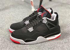 Nike Air Jordan 4 Bred 2019 Release Date. The Nike Air Jordan 4 Bred Black Cement will return with Nike Air heels for its Anniversary. Air Jordan Retro, Nike Air Jordans, Retro Sneakers, Sneakers Nike, Jordan Sneakers, Air Jordan 4 Bred, Sneaker Bar, School Shoes, Jordan Shoes