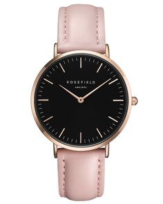 Black - Pink watch with rose gold case