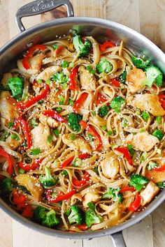 Asian Sesame Chicken and Noodles