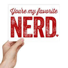 Funny Valentine's Day Card  Geekery Nerdy by GrammaticalArt, $4.50