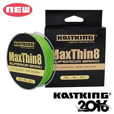 KastKing Maxthin8 Braided Fishing Line 8 Strands 165Yds/150M Upgrade From Power Pro Superline Strong PE Material  Freshest Fishing Clothing And Gear On The Web!