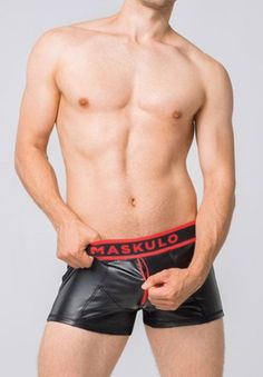 Sporty and sexy look, the Skulla leatherette shorts deliver a slim fit with a front zipper for easy access to what's inside. Montreal, Boxer, Trunks, Sporty, Slim, Zipper, Summer, Drift Wood, Summer Time