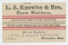Knowles loom builders antique vintage trade by BookandPaperShop