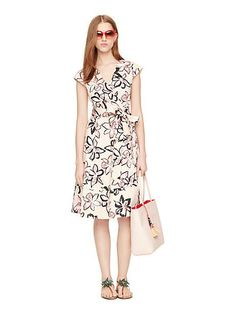 tiger lily wrap dress - Kate Spade New York