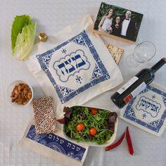 8 x 8 Matzah Design Square Shape Pesach Passover Cotton Passover Pot Holder Jewish Great Gift For: Bar Mitzvah Bat Mitzvah Rosh Hashanah Chanukah Wedding Shabbat Seder Night Passover Purim and Other Jewish Holiday