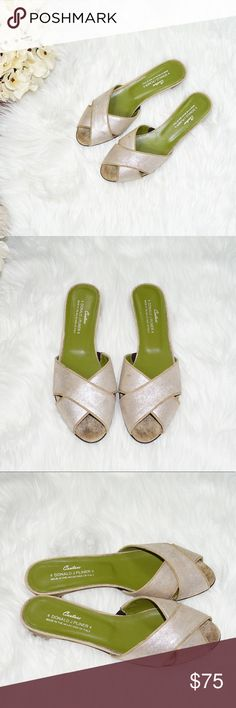 Donald J. Pliner Couture Metallic Sandals These shoes are absolutely gorgeous and on trend!!! They are in excellent, pre-owned condition. Donald J. Pliner Shoes Sandals