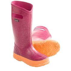 Bogs Footwear Glitter Rain Boots - Waterproof (For Kid and Youth Girls)