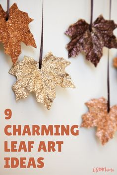 One of the best craft supplies to use for your fall decor are leaves! They're everywhere outside so you can get them for free or if you need them to last longer you can buy silk ones as well. You can really create so many beautiful crafts and here are 9 that you can easily make for this coming fall season.
