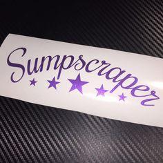 PURPLE FLAKE Sumpscraper Car Sticker Decal JDM Drift VDUB Stance Low Air Bagged #KPMF