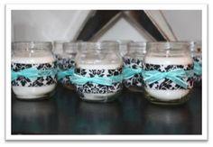 InspireMe Crafts: Gotta Make It: Candles in Baby Food Jars (Denim & Diamonds Party Favor)