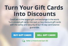 Get $5 Off Any Gift Card from @CardCash #GiftCard Exchange.