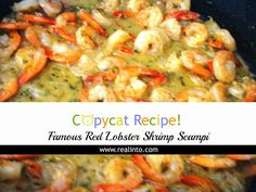 Famous Red Lobster Shrimp Scampi Recipe - Real Into Red Lobster Shrimp Scampi Recipe, Lobster Recipes, Shrimp Recipes, Entree Recipes, Appetizer Recipes, Dinner Recipes, Cooking Recipes, Dinner Menu, Appetizers