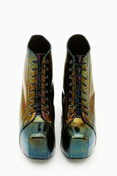 Lita Platform Boot - Oil Slick