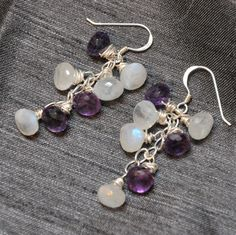 anything purple and i am all over it!  waterfall amethyst earrings