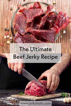Peppered Beef Jerky Recipe, Beef Jerky Marinade, Best Beef Jerky, Homemade Beef Jerky, Beef Jerkey, Smoked Beef Jerky, Jerky Recipes, Smoked Meat Recipes