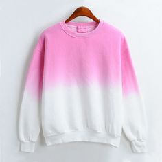 Harajuku gradient tie-dye fleece sweatshirt - Thumbnail 2