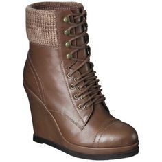 Kalare Wedge Ankle Boot - Cognac....I want these so badly! I've been looking for something like this everywhere!