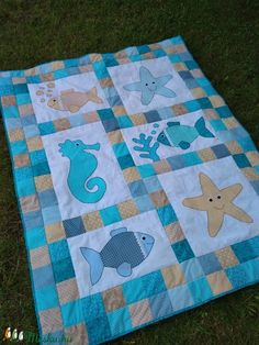 water PDF Kissy Fishy Quilt Pattern Instant Download fish modern patchwork pet